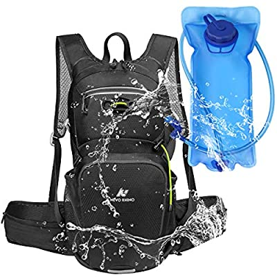 N NEVO RHINO Hydration Pack, Insulated,2 Waist Bags,2L Water Bladder BPA Free Leakproof, for Cycling/Hiking/Backpacking/Climbing/Biking/Camping/Raves