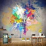 Msrahves fotomurales decorativos pared 3d modernos Graffiti arte bombilla creatividad 130X80CM Pared Mural Foto Papel Pintado Pared Mural Vivero Sofá Tv Pared De Fondo Decoración de Pared decorativos