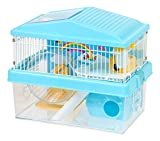 IRIS USA Hamster and Gerbil Pet Cage, 2-Tier, Blue