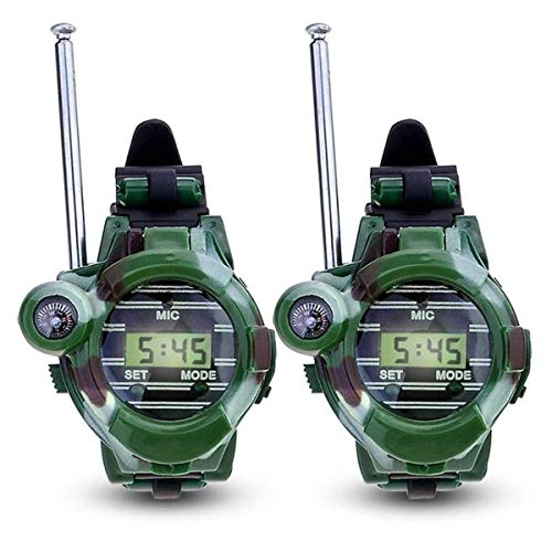 Vee U Feng Watch Walkie Talkies for Kids, 7 in 1 Digital Walky Talky Watch, with Backlit LCD Flashlight Best Gifts Toys for Boys and Girls (2 Pack)