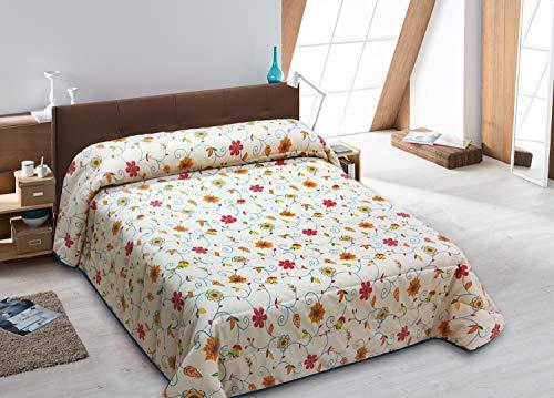 JVR YANES Edredón Conforter Modelo, Algodón organico, Unico, Cama 135 CM