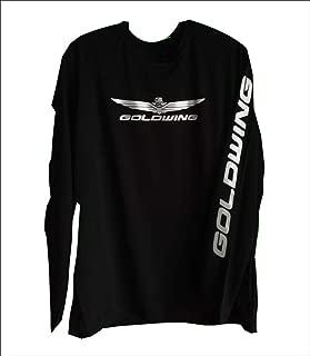 Unisex Long Sport Tek Sleeve Goldwing T-Shirt High Visibility Polyester Black W/Silver Reflective