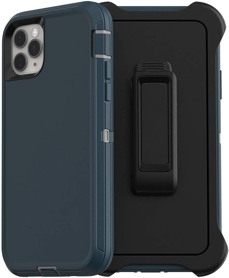 Styqeen iPhone 11 Pro Max Case, Full Body Heavy Duty Dust-Proof Shockproof Protective Cover and Belt Clip Holster with Kickstand for Apple iPhone 11 Pro Max [6.5 inch] (Blue)