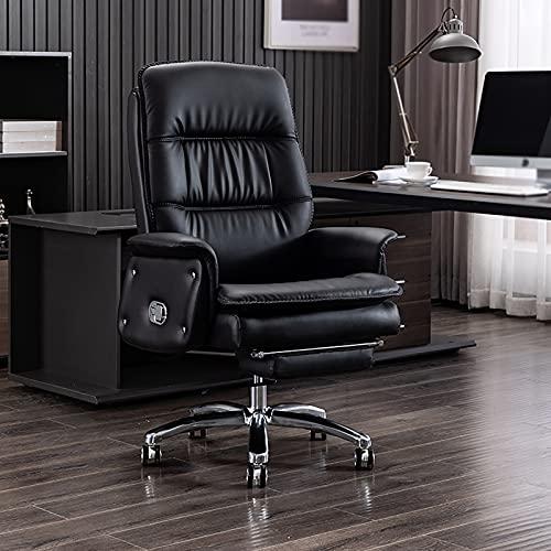 YDYBY Sedia Gaming Sedia Ergonomica reclinabile,con Massaggio Supporto Lombare Sedia Ufficio per Sedia direzionale in Pelle PU Sport con poggiapiedi a Scomparsa Tavoli e sedie,Nero