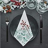 LA PAJARITA 40 Serviettes de Noël en papier décorées Vert Pointe 40 x 40 cm MERRY