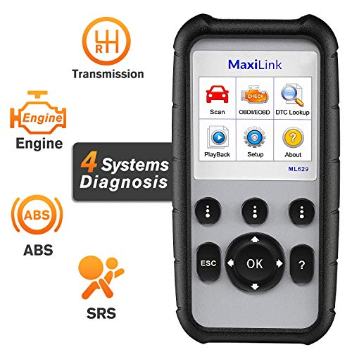 Autel MaxiLink ML629 OBD2-Diagnosegerät für ABS/SRS/Motor und Getriebe, 4Systemdiagnosen, Fahrzeugdaten (VIN), Inspektions- und Wartungsbereitschaft, Nachfolgeversion des ML619
