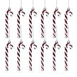 GWHOLE 12 x Bastones Caramelo de Navidad Candy Cane Decoraciones para Árbol de Navidad Co...
