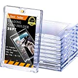 10 Pieces Magnetic Card Holder 35 Pt Trading Card Protector, Baseball Card Protector, Acrylic Card Holder Clear Display Card Protector for Baseball Football Sports Game Card Storage and Display