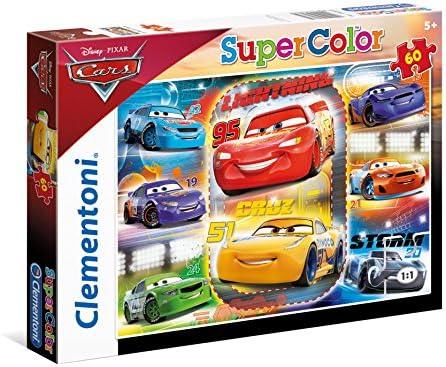 Clementoni- Disney Cars-60 Supercolor Puzzle 60 Piezas Friends for The Win, Multicolor, pezzi (26973.0)