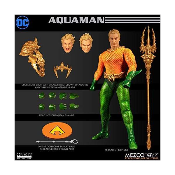 Figura Aquaman 17 cm. One:12. DC Cómics. Mezco Toyz 1