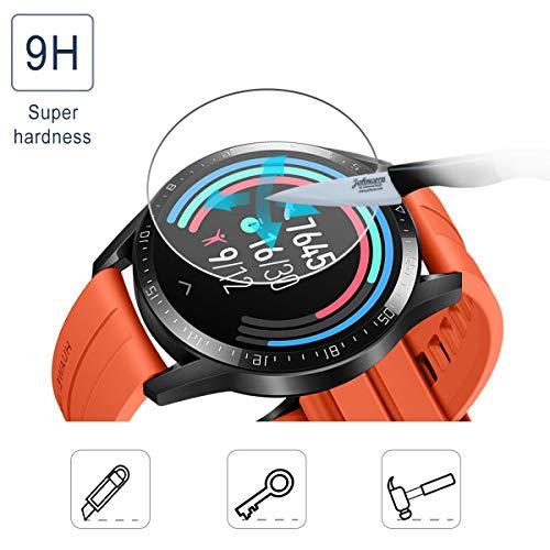 SPGUARD Schutzfolie Kompatibel mit Huawei Watch GT 2 46mm Schutzfolie [3 Stück] für Huawei Watch GT 2 46mm Panzerglas [2.5D 9H Härte] [Blasenfrei] - 2