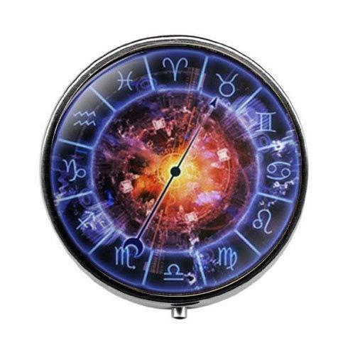 Blue Sign Horoskop-Schmuck, Sternzeichen-Kreis, Pillendose, Süßigkeiten-Box, Konstellation, Schmuck, Glas, Fotoschmuck