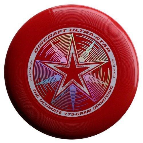 Discraft 175gram Super Color Ultra-Star Disc, Rojo