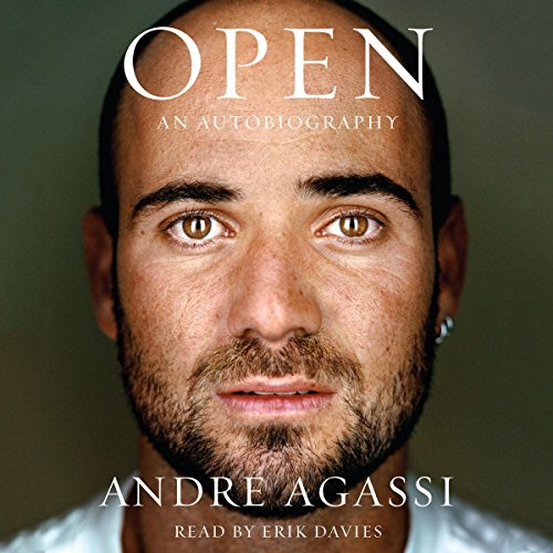 Open     An Autobiography              By:                                                                                                                                 Andre Agassi                               Narrated by:                                                                                                                                 Erik Davies                      Length: 18 hrs and 4 mins     4,032 ratings     Overall 4.7