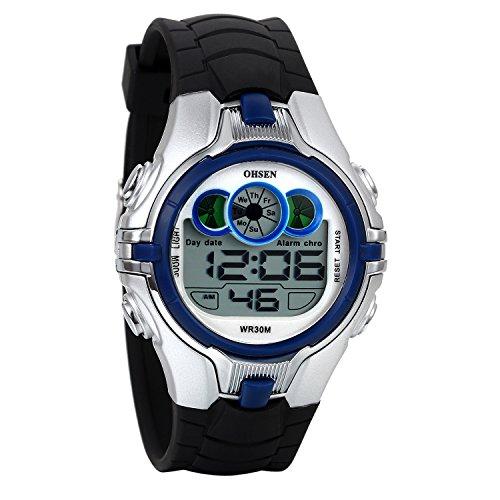 Reloj Deportivo Digital para Hombre, 3ATM Impermeable, Reloj LED Multi Funciones Correa de Silicona, Regalo Original, Avaner