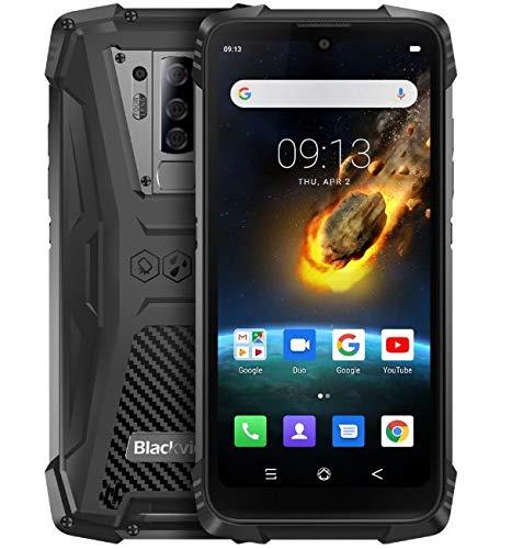 Smartphone Robuste Blackview BV6900, Téléphone Incassable Étanche IP68, Caméra Arrière Quadruple 16MP, 4Go+64Go, 5580 mAh Charge sans Fil, 5,84''FHD + Waterdrop Écran Gorilla Glass 5,NFC GPS Noir