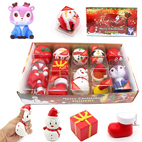 Navidad Squishy Squeeze Juguetes de lento aumento crema perfumada antiestrés niño niño bebé juguetes