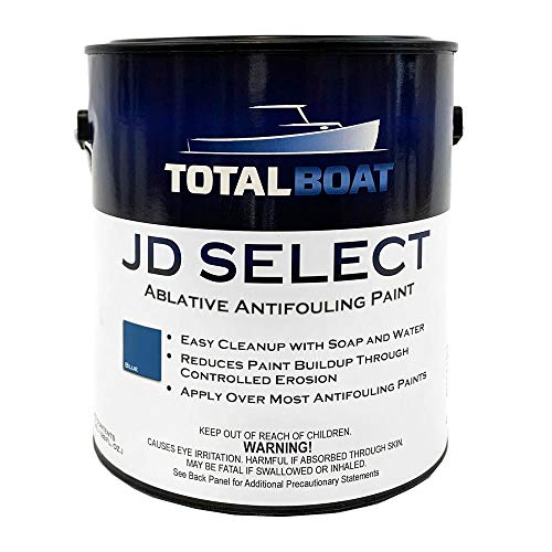 TotalBoat JD Select Ablative Antifouling Bottom Paint for Fiberglass, Wood and Steel Boats (Blue, Gallon)
