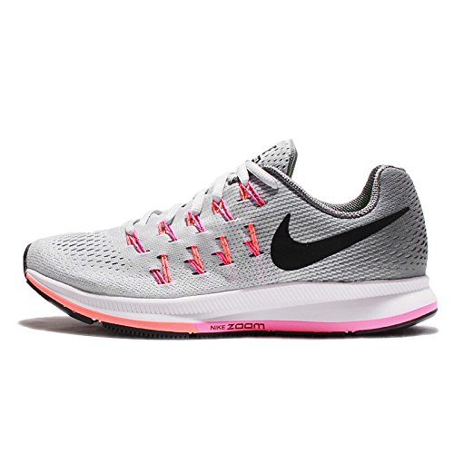 Nike Damen Air Zoom Pegasus 33 Laufschuhe, Grau (Pure Platinum/Black-Cool Grey-Pink Blast), 35.5 EU