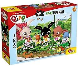 Ricomponi le immagini con Bing con le scene della serie animata Puzzle 70 x 50 cm di 24 pezzi Manualità fine e coordinazione occhio, mano, creatività e fantasia, curiosità e capacità di osservazione, decodificazione di immagini