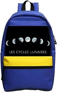 Lunar cycle3D Printed School Bag Backpack College Shoulder Satche Travel Bag Casual School Business Daypack for Kids Adult