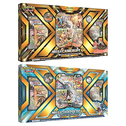 Pokémon - Jeux de Cartes - Coffret - Mega Sharpedo Ex Premium Collection En Anglais
