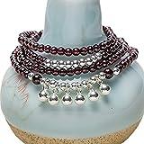 Bracelet naturel de pierres précieuses - Garnet est connecté à l'élément incendie, qui concerne la passion et l'inspiration. Cela peut augmenter les sentiments de confiance en soi. Garnet peut également être utilisé pour attirer un partenaire romanti...