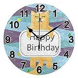 FULUHUAPIN Reloj de pared para baño con diseño de gato y animal para niña, no hace tictac, silencioso, fácil de leer, para decoración de dormitorio, 22.5 cm, reloj redondo 20300930
