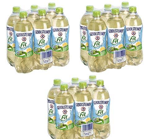 18 Flaschen Gerolsteiner Gerolsteiner & Frucht Apfel-Zitrone Fit + Mineralwasser a 750ml PET inc. 4,50€ EINWEG Flasche