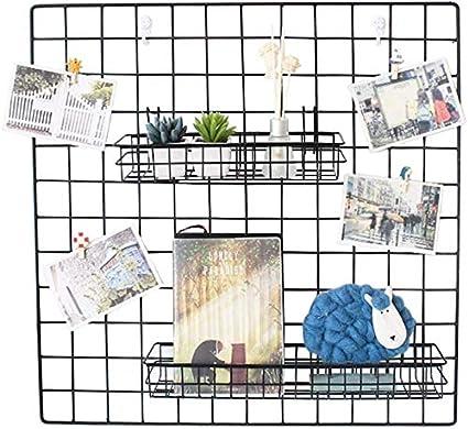 Cesta de Rejilla con Ganchos decoraci/ón de Pared Organizador de Pared vers/átil para Herramientas y m/ás para art/ículos para el hogar BriskyM Cesta Colgante