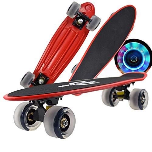Junta de pescado 22x6 pulgadas skateboards corto completo Monopatín-apto for adultos, adolescentes...