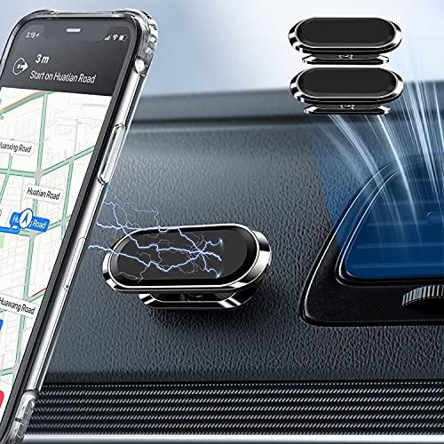 【2 confezione】Supporto Magnetico per Telefono da Auto,Supporto Magnetico Universale per Cellulare GPS Intelligente a Mani Libere,Magnete Super Potente Regolabile a 360 °per IPhone Samsung e altro