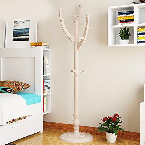 Dongyd Percha de madera maciza para colgar en el dormitorio, estante para colgar en la sala de estar, estanterías para el hogar (color: champán)
