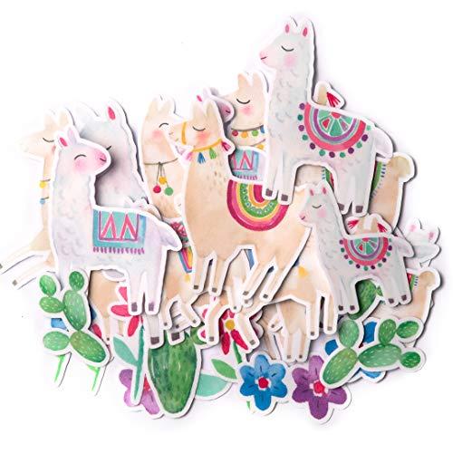 Niedliche Llama-Aufkleber (31 Stück), Cool Bauernhoftier-Aufkleber für Kinder, wasserdichte Oster-Aufkleber für Wasserflaschen und Laptops, ästhetisches Aufkleber-Set für Scrapbooking und Tagebuch.