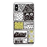 iPhone 12 mini クリア ケース 薄型 スマホケース スマホカバー sc709(A) スマイル ニコちゃん コミック ネーム アイフォン12ミニ アイフォントゥエルブミニ スマートフォン スマートホン 携帯 ケース アイホン12ミニ アイホントゥエルブミニ ハード プラ ポリカボネイト スマフォ カバー