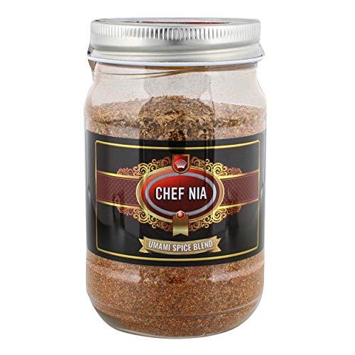 Chef Nia 16oz Cooking Seasoning Spices Salt Mix - Meat Rub, BBQ Grill Seasoning, Barbeque Blend, Vegetable Seasoning