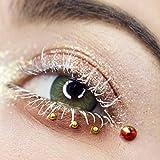 Glamlens Farbige Grüne Kontaktlinsen Elly Emerald Green Stark Deckende Natürliche Silikon Comfort Linsen - 1 Paar (2 Stück) Ohne Stärke