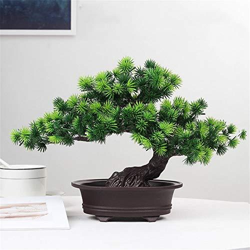 TROYSINC Künstlicher Bonsai,Kiefer-Bonsai, Künstliche Bonsai-Baum Kiefer Pflanzen Dekoration Kunstpflanze Pflanze für Büro Zuhause Dekoration (D)