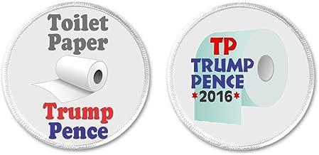 Set 2 Toilet Paper Trump Pence TP Anti Against President / VP 3