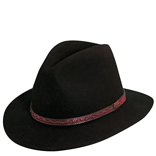 Scala Classico Men s Crushable Felt Safari With Leather Hat 044652bf4ed7