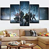 WUXI Cuadro sobre Lienzo One Set 5 Paneles Juego Poster Halo 5 Guardians Painting Modern Home Wall Decorative Canvas Picture Art HD Print Modern Artworks Impresiones en Lienzo