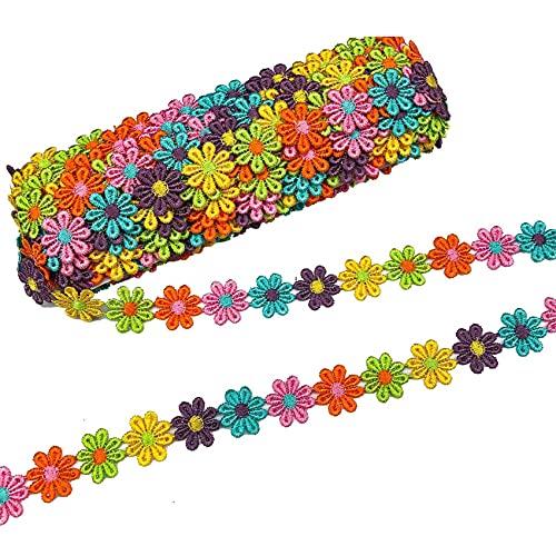 Fransande - Cinta de costura de encaje para tejer de boda, bordada, bricolaje a mano, trabajo de parches, cinta de coser, suministros artesanales, 25 mm