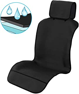 Waterproof Car Seat Covers, Car Front Seat Protector Non-Slip Neoprene Auto Best Protection for Sweat, Stains & Smell, Universal Fit for Most Cars, Trucks, SUVs, Black (50 x 24.8 Inches)【1 PC】