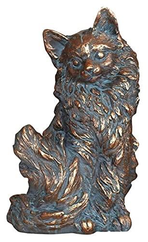 YANRUI Estatua del Gato Escultura de Cobre Puro Accesorios de Muebles para el hogar Figuras Animales Sala de Estar Oficina Escritorio Decoración Decoración Accesorios Regalos