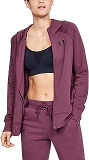 Under Armour Women's Rival Fleece Sportstyle Lc Sleeve Graphi Jacket, Purple (Level Purple/Black), Medium