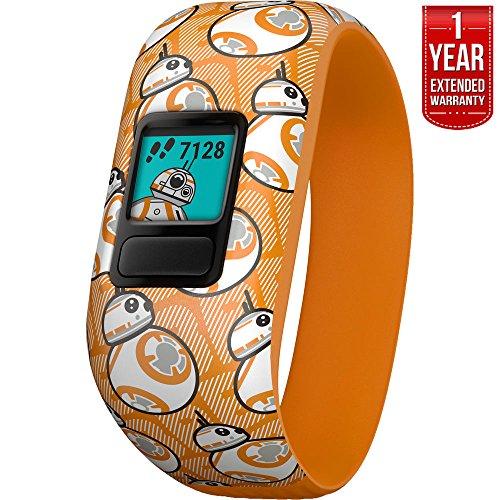 Beach Camera Garmin Vivofit jr. 2 - Stretchy Adjustable Activity Tracker for Kids + 1 Year Extended Warranty (BB-8)