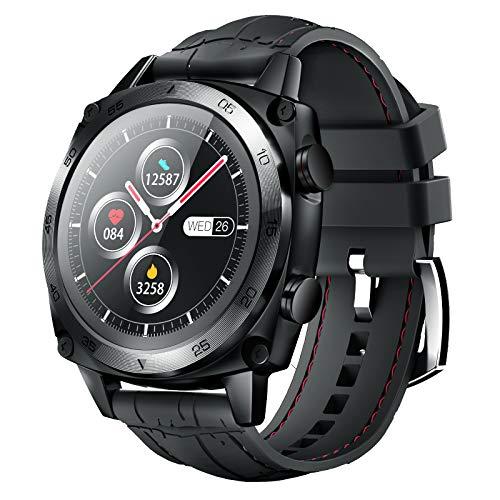 CUBOT Smartwatch C3, 1.3 Zoll Touchscreen FitnessTracker, 5ATM Wasserdicht Fitnessuhr, Rund BusinessArmbanduhr, Schrittzähler, IOS/Android kompatibel,für Herren,mit Ersatzarmband, Schwarz