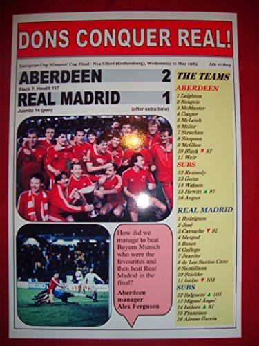 Aberdeen 2 Real Madrid 1–1984 Winnersde la Coupe dEurope-Fin