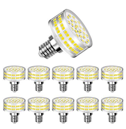 MENTA Bombillas LED E14 9W (Equivalente a 90W Halógena), Blanco Frío 6000K, 800lúmenes, 360°ángulo de haz, 220-240 VAC, No Regulable, Garantía de 2 año, Pack de 10