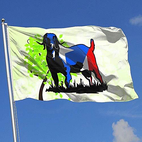ALLdelete# Flags Bandera de jardín Exterior/hogar Bandera de Puerto Rico Cabra 100% poliéster Banderas translúcidas de una Sola Capa 3X5 pies